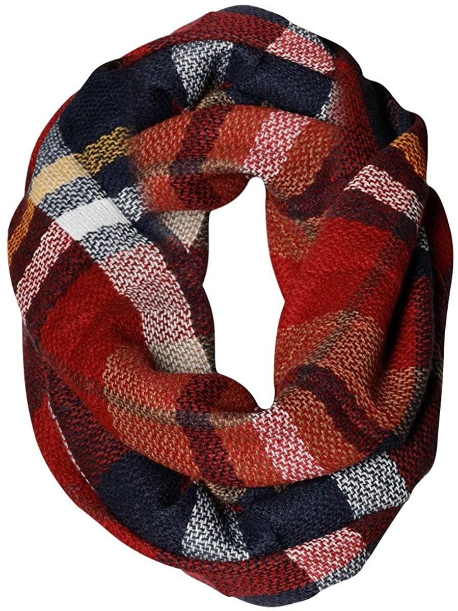 All American Plaid Tartan Infinity Scarf Funky Monkey Fashion Warm Cozy Scarves