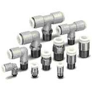 SMC KGL06-00 connectors - kg/kq(x23) 1-touch stainless family kq(x23) 6mm - fitting, union elbow s/s - package of 2