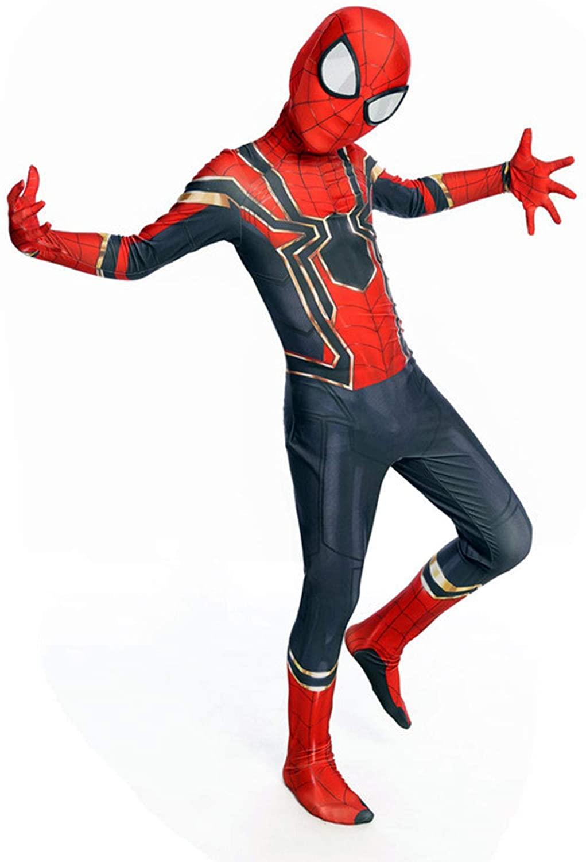 lkjhgf Kids Lycra Superhero Suits Halloween Cosplay Costumes 3D Style