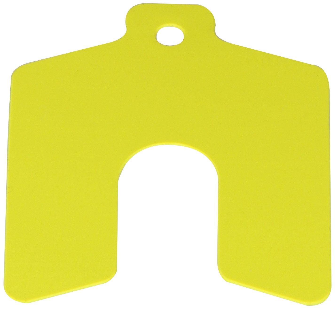 PVC (Polyvinyl Chloride) Slotted Shim, Yellow, 0.020