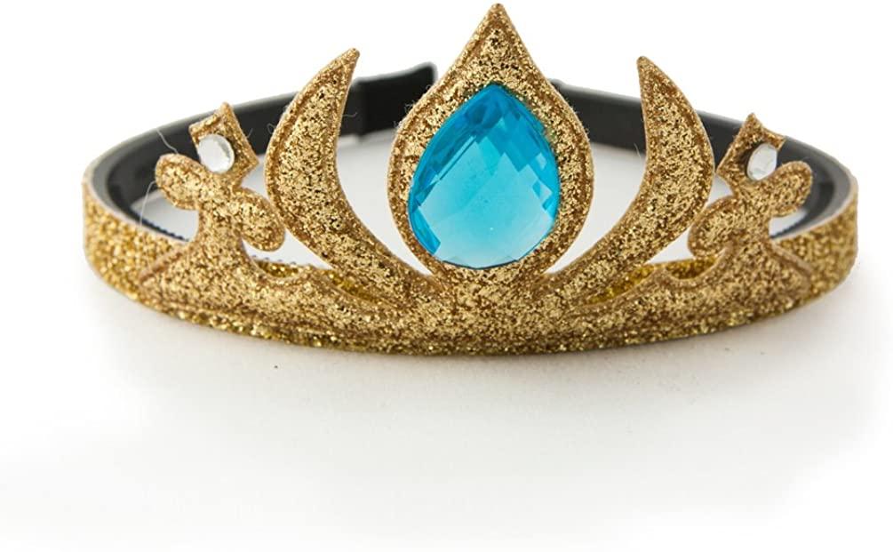 GLITTERFIT Girls Snow Queen Crown Headband, Halloween Costumes, Princess Headband for Kids - Gold