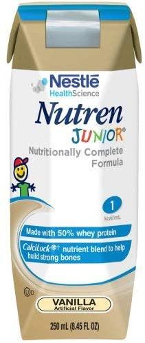 Nutren Junior Vanilla -brickpacks- Case of 24, 8.45 FL OZ each