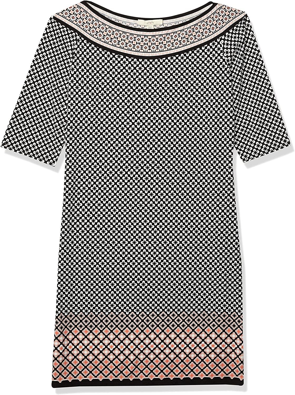 DHgate Brand - Lark & Ro Women's Half Sleeve Shift Dress