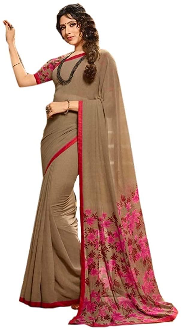 Cocktail Party Wear Rangoli Georgette Digital Printed Indian Saree Sari Blouse Muslim Dress 9860B