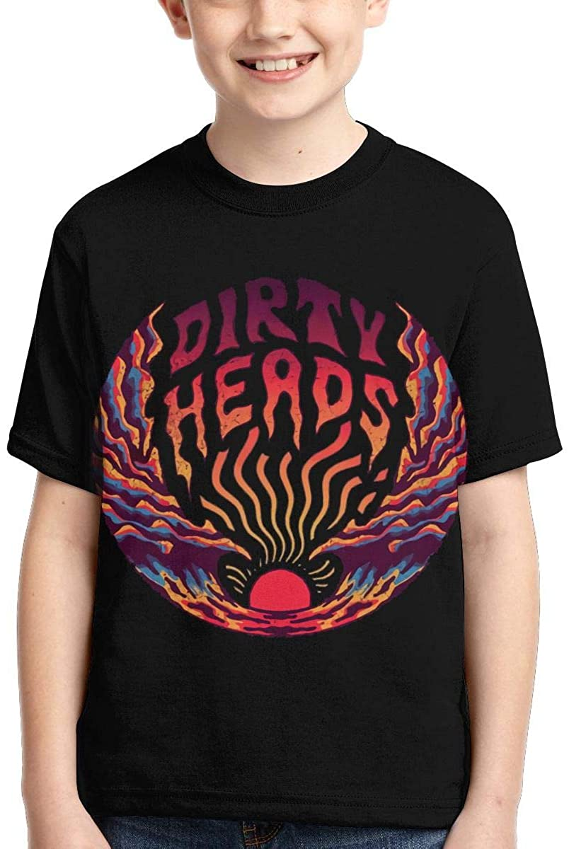 Dirty Heads Graphic Boy Shirts Casual Short Sleeve T Shirt for Kids Black