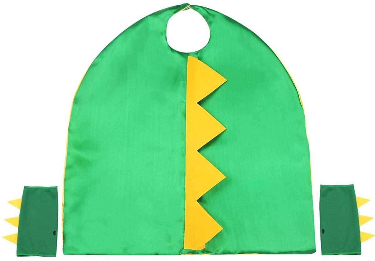 TiaoBug Kids Halloween Costumes Children Dinosaur Dragon Cape Cloak with Gloves Set Dino Animal Dress Up
