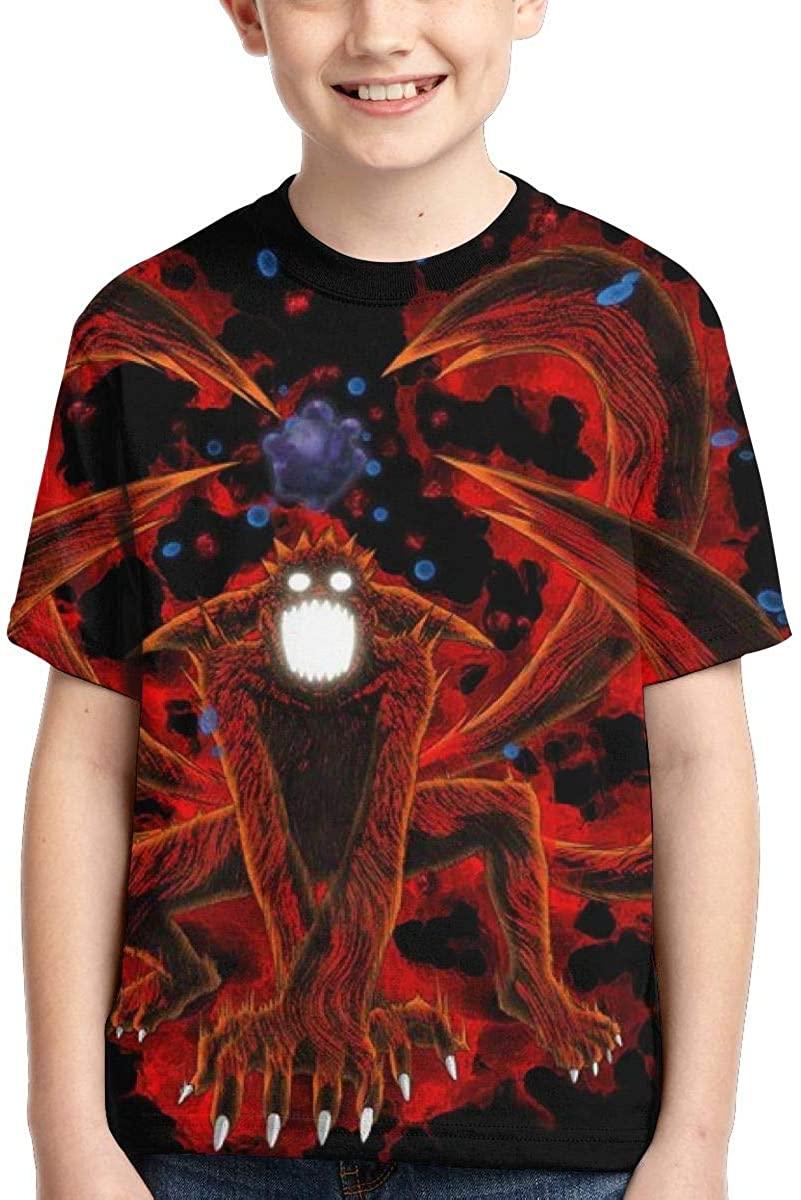 Youth Girls Boys Naruto 3D Printed Short Sleeve Fashion Youth Tee T-Shirt