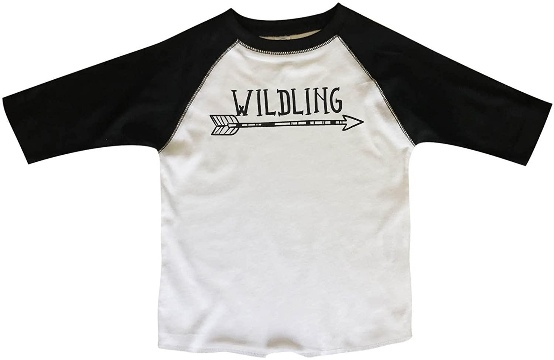 "Kids Raglan 3/4 Sleeves ""Wilding"" Game of Thrones Toddler & Youth Baseball Tee"
