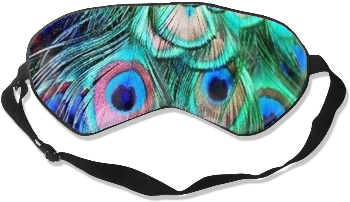 Sleep Eye Mask For Men Women,Peacock Feather Soft Comfort Eye Shade Cover For Sleeping