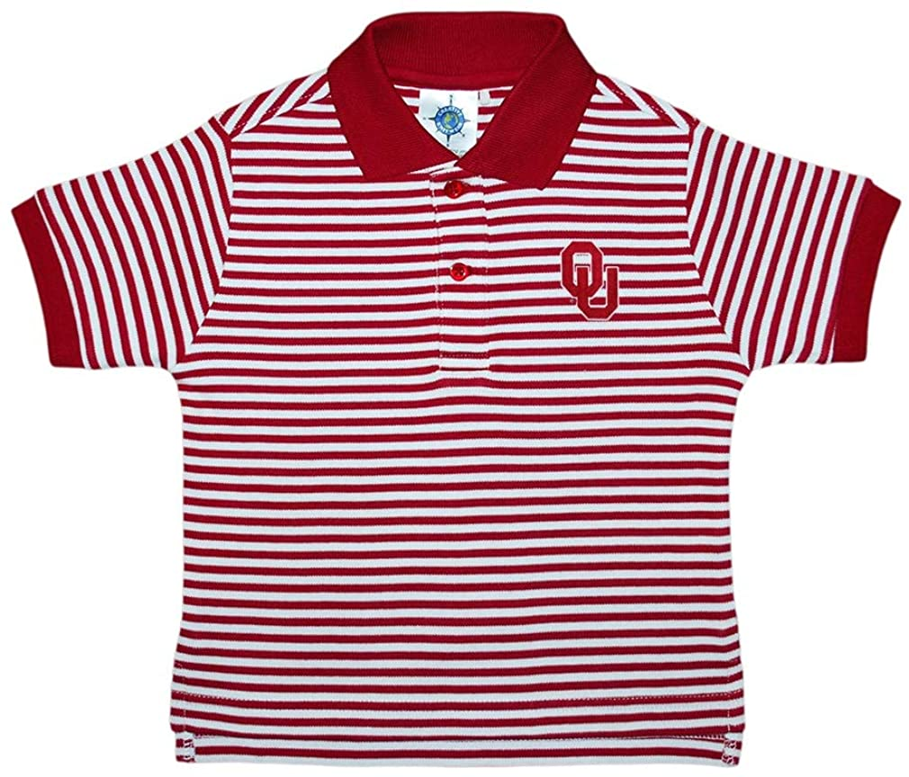 Creative Knitwear University of Oklahoma Sooners Striped Polo Shirt