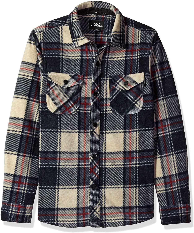 O'NEILL Boys' Little Glacier Stretch Button Up Polar Fleece Shirt