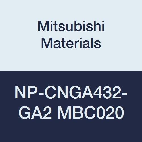 Mitsubishi Materials NP-CNGA432-GA2 MBC020 Coated CBN CN Type Petit Tip Negative Turning Insert with Hole, Rhombic 80°, GA Honing, No Wiper, 2 Tip, 0.5