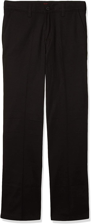 Dickies Girls' Stretch Straight Leg Pant, Black, 20