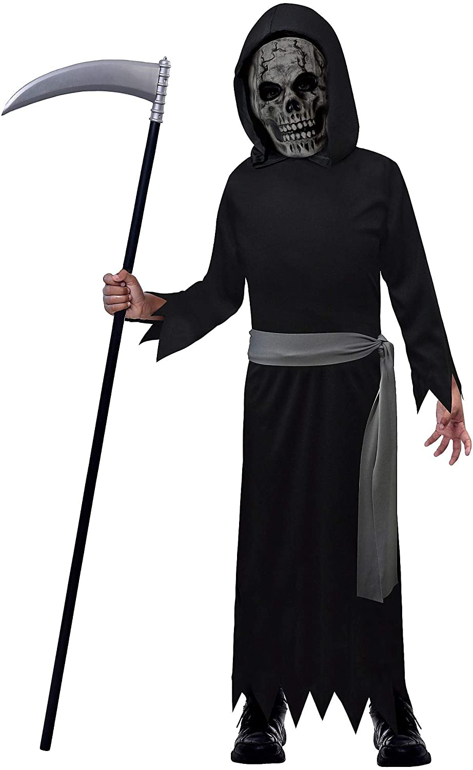 Suit Yourself Death Reaper Halloween Costume for Boys, with Accessories