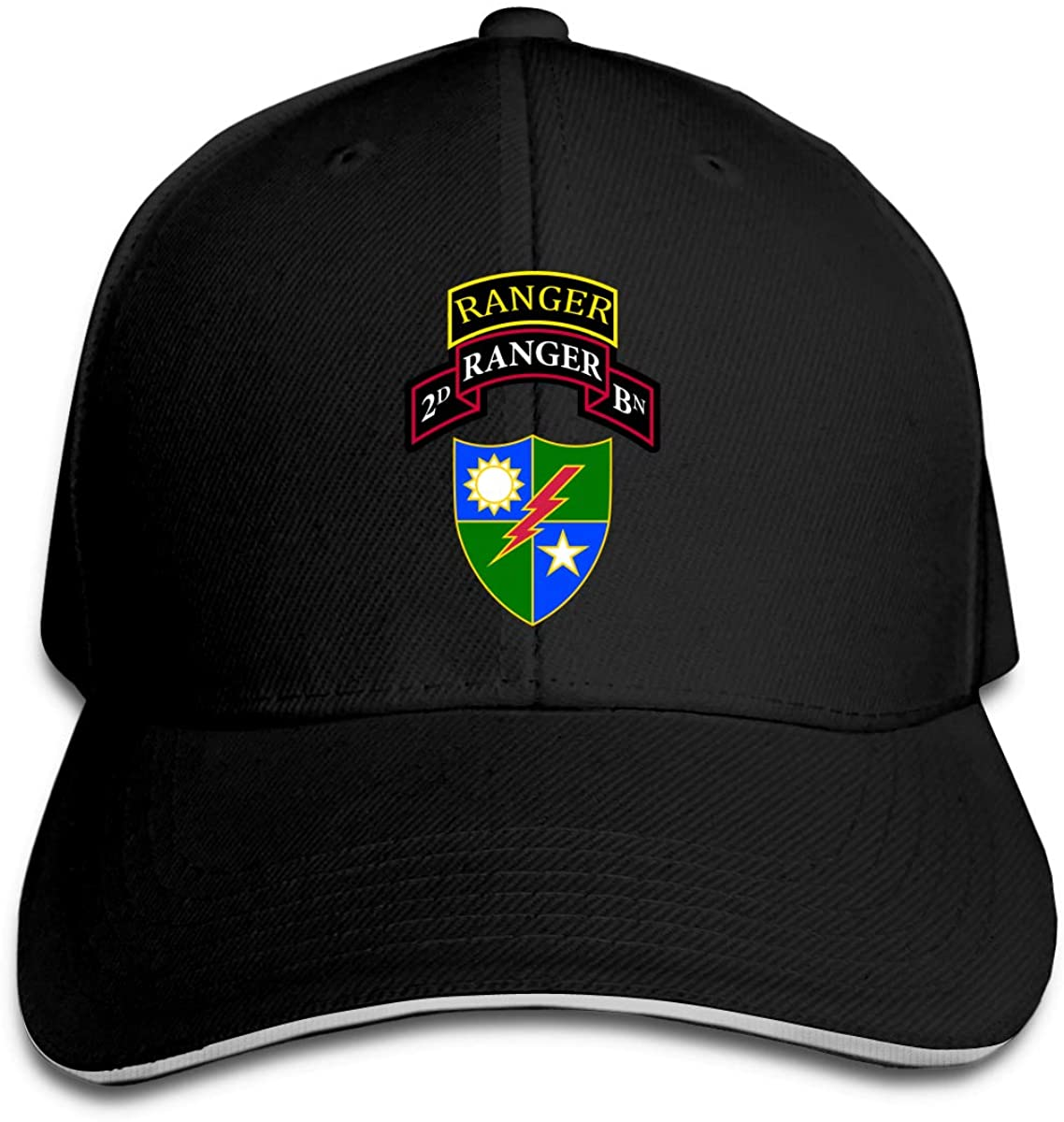 Us Army 2th Ranger Battalio Classic Baseball Cap Unisex Cotton Adjustable Hat for Kids Teens Adults