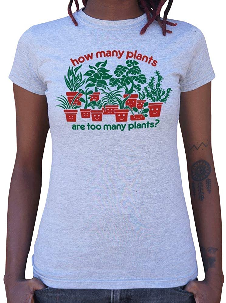 The Black Forrest How Many Plants are Too Many Plants Around Neck Soft Feel Light Weight T-Shirt for Women's 100% Cotton