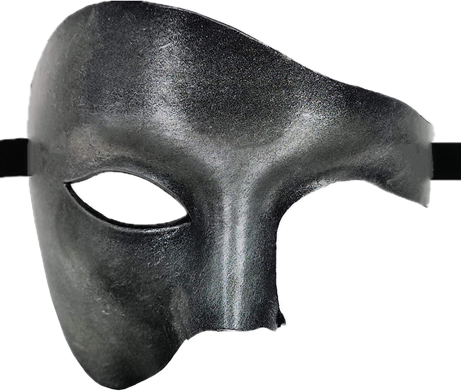 Masquerade Mask for Venetian Men Costume Mask/Party/Ball Prom/Halloween/Mardi Gras/Wedding(Silver One-Eyed)