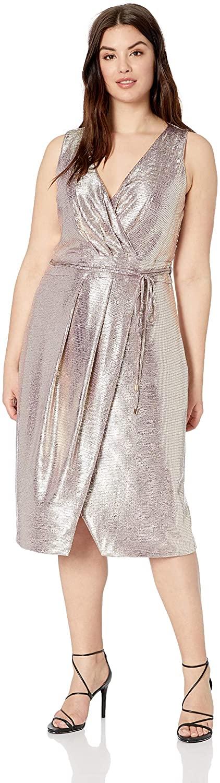 RACHEL Rachel Roy Women's Plus Size Brigette Foil Dress