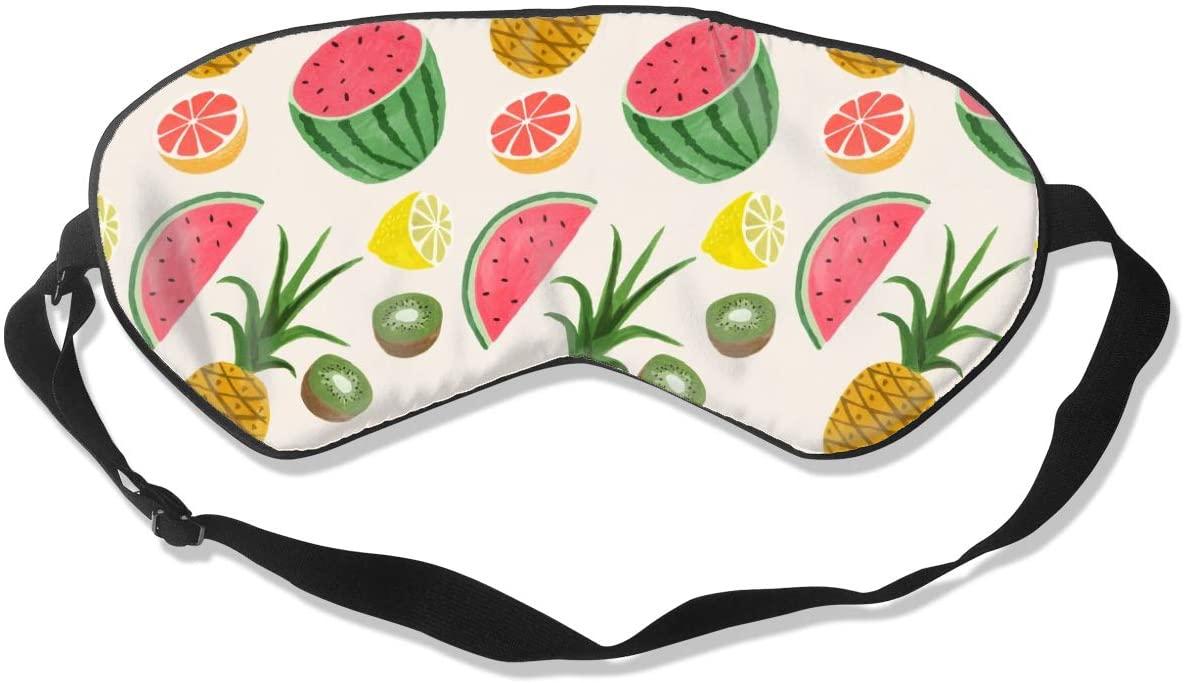 Fruit Patern Eye Mask Sleeping Mask 100% Double-Sided Silk Eyeshade Eye Cover