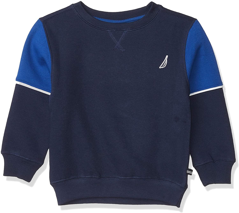 Nautica Boys' Crew Neck Back Logo Sweatshirt
