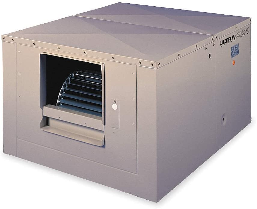 4400 cfm Ducted Evaporative Cooler, 3/4 hp, 9 gal.