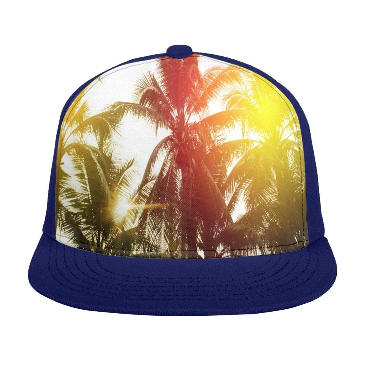 SLHFPX Baseball Cap Tropical Palm Trees On Sky Trucker Hats Adjustable Sun Cap for Women Men Teen