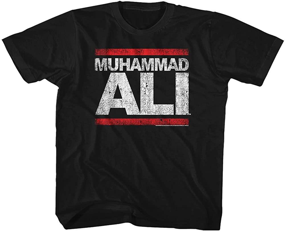 Muhammad Ali Boys' Run Ali Childrens T-Shirt Black