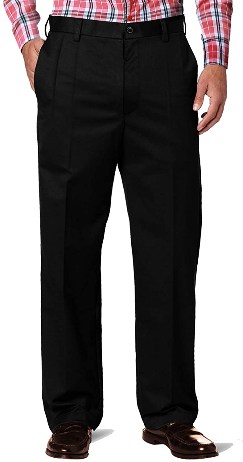 Match Mens Classic Straight-fit Wrinkle-Resistant Pleated Dress Pants M4
