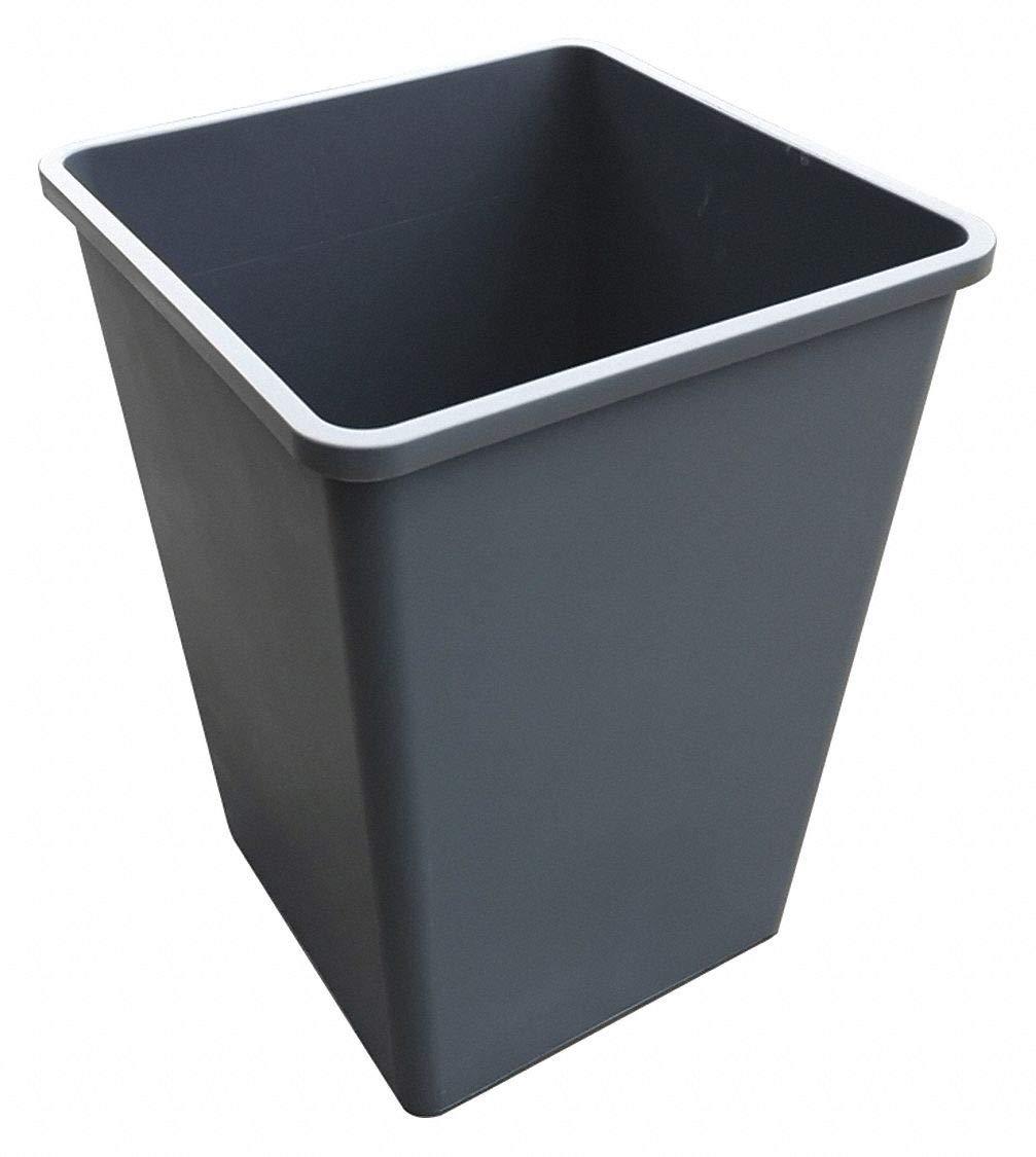 Tough Guy 35 gal. Square Gray Trash Can