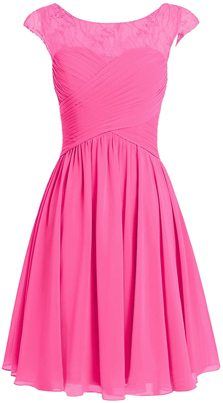 Cdress Short Bridesmaid Dresses Chiffon Prom Homecoming Dress Wedding Party Formal Gowns Appliques