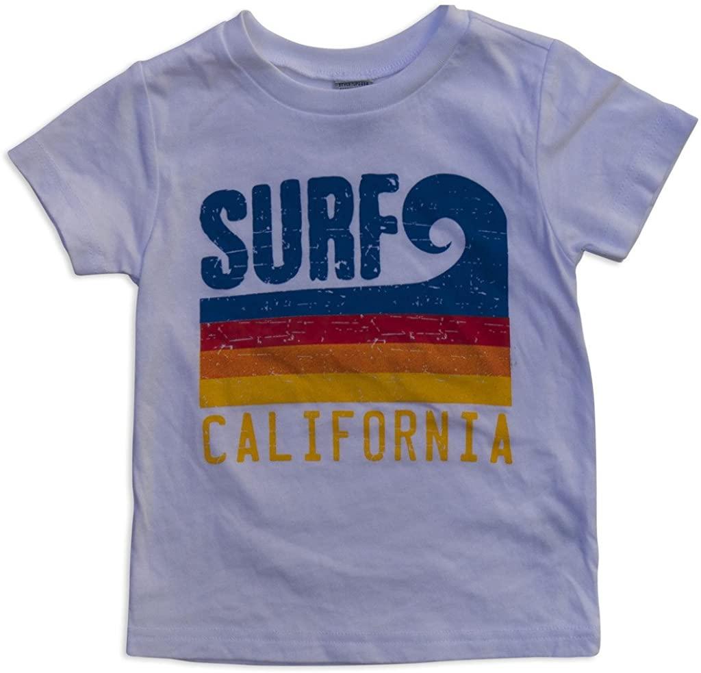 Sol Baby Surf California Stripe Wave White Tee