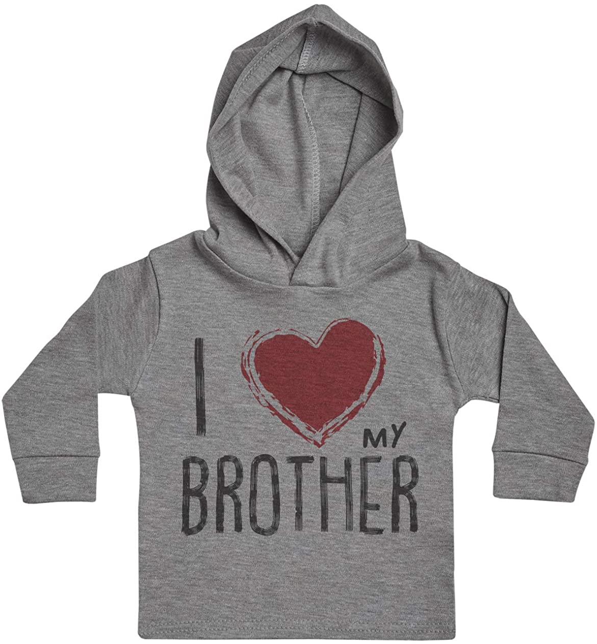 I Love My Brother Red Heart Baby Boy Hoody, Baby Girl Hoody, Baby Hoody, Baby Clothing, Baby Gift