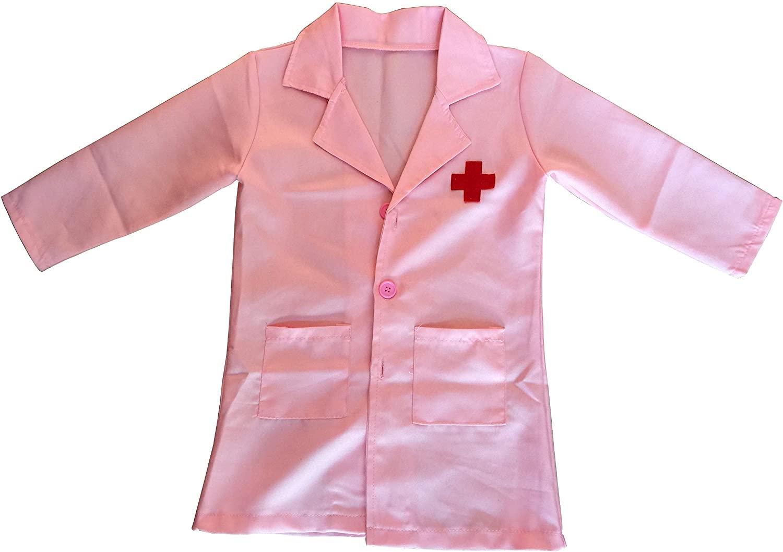 HinLot Doctor Role Play Kids Jacket Lab Coat Costume Accessory Set