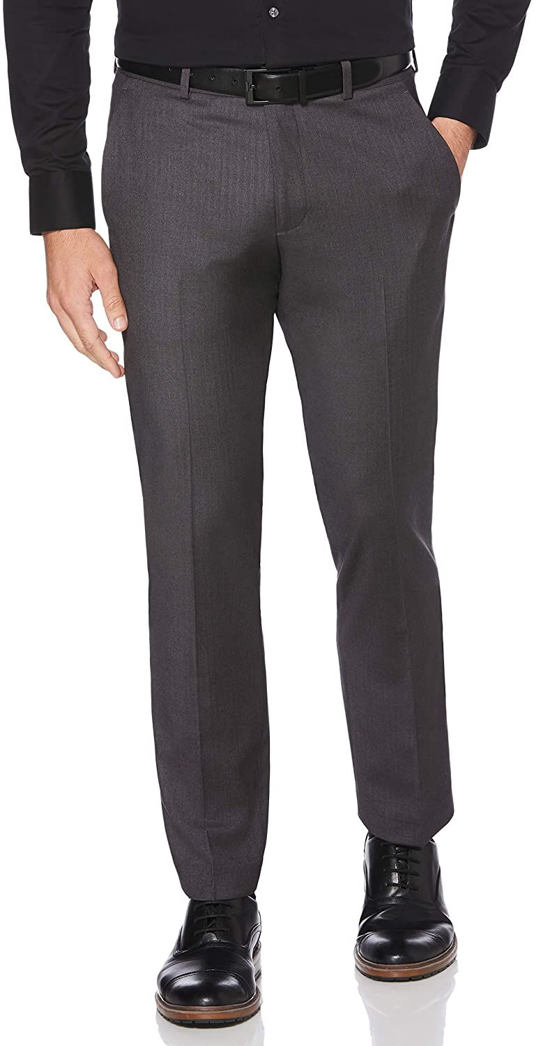 Perry Ellis Men's Solid Slim-fit Pant