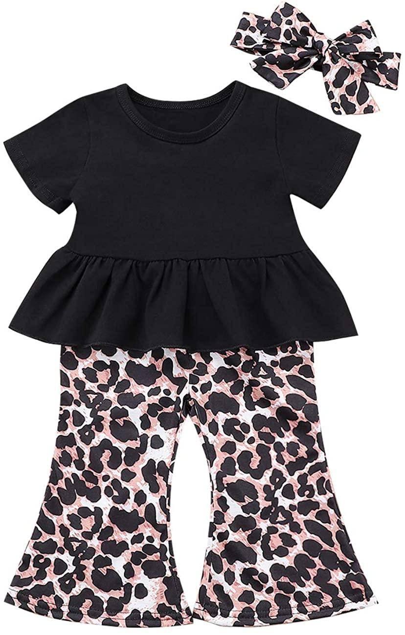 Newborn Baby Girls Clothes Ruffle Romper Top + Flower Short Pants +Headband Outfit