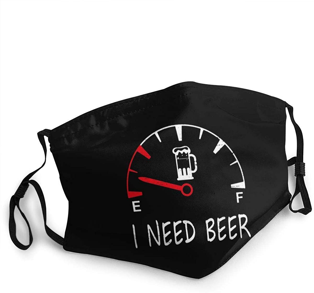 Washable Reusable Face Mask Cover Beer Drinking I Need A Beer Meter Dust Cover Sports Face Cover Bandana for Adults and Kids, Made In USA