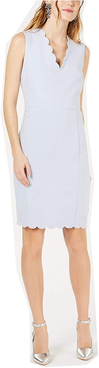 French Connection Womens Scalloped Sleeveless Cocktail Dress