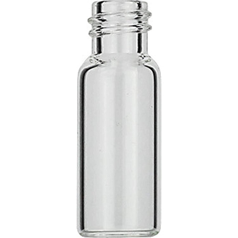 MACHEREY-NAGEL 70213.2 Screw Neck Vial, N8, 1.5 ml, 11.6 x 32.0mm, Amber, Flat Bottom, Small, 1st Hydrolytic Class Glass (Pack of 100)