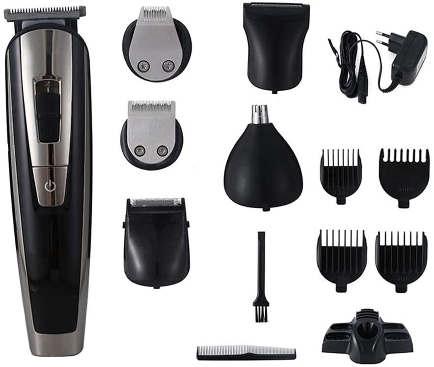 PHASFBJ 6 in 1 Multifunction Hair Trimmer, Beard Trimer for Men Electric Stubble Edge Razor Hair Cutter Machine Haircut Razor Hair Clipper Rechargeable Cordless