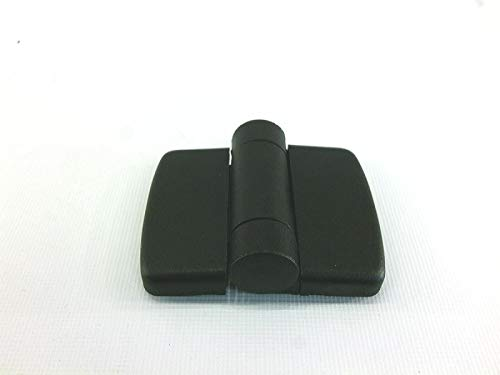 FATH Nylon PA System Hinge with Positioning Function and Cover Caps, Black, 40/40 Hinge Size, 4 Centre Pins, Slot 10