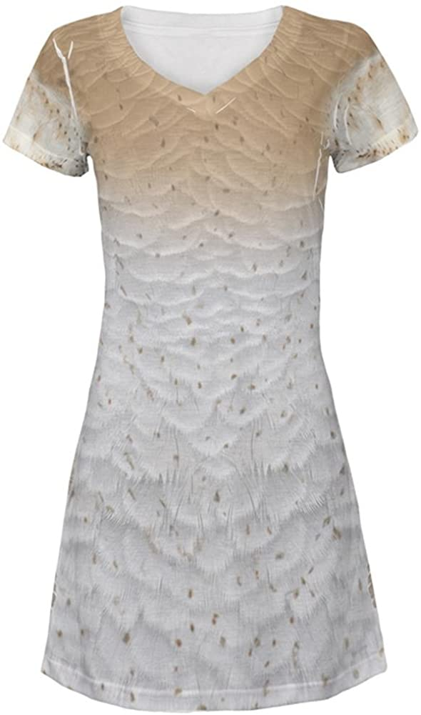Halloween Barn Owl Costume All Over Juniors Beach Cover-Up Dress