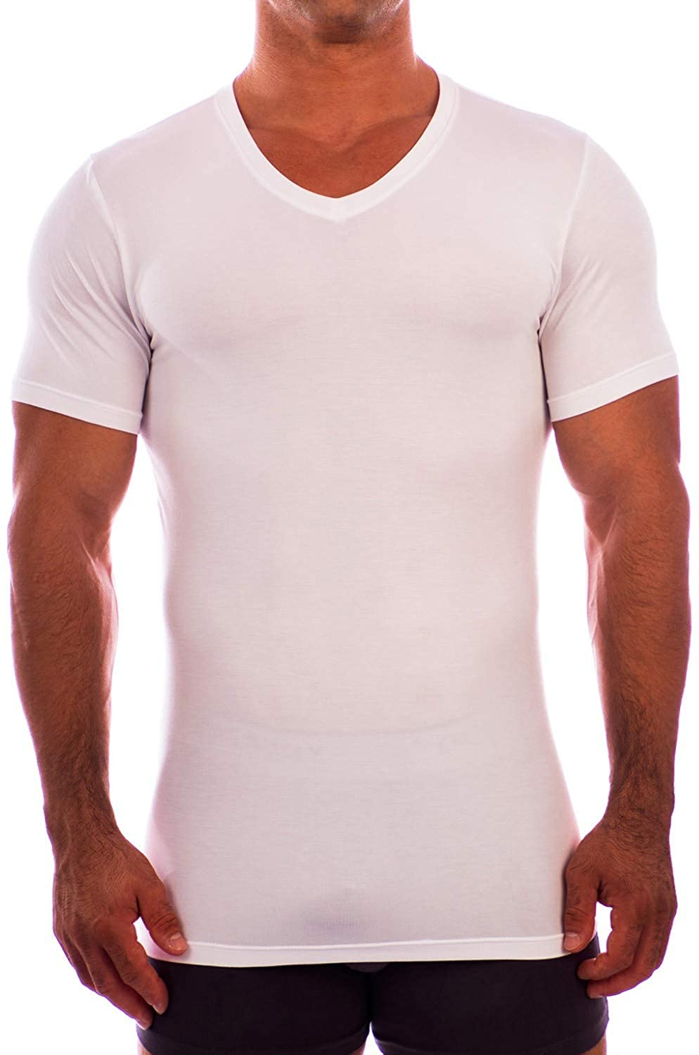 Obviously Apparel Essence V Neck Short Sleeve Undershirt White XLarge