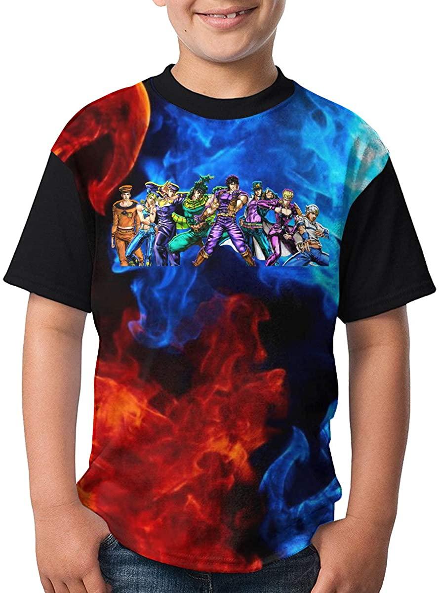 Walter K Haas Jojos Bizarre Adventure Youth 3D Cool Round Neck Short Sleeve T-Shirt Teen Top&Tees