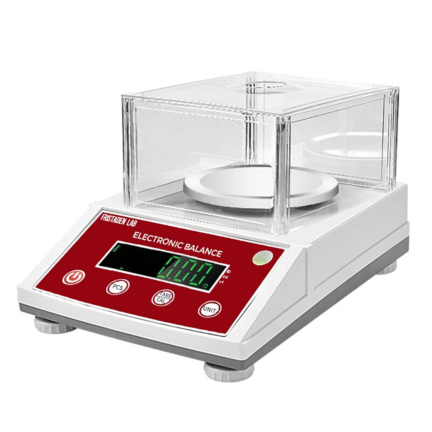 American Fristaden Lab Analytical Balance 1000g x 0.01g | Digital Scale for Grams, Ounces, Pounds and Carats | Precision Electronic 01 Gram Scale for Laboratory, Jewelry and Businesses | 1YR Warranty