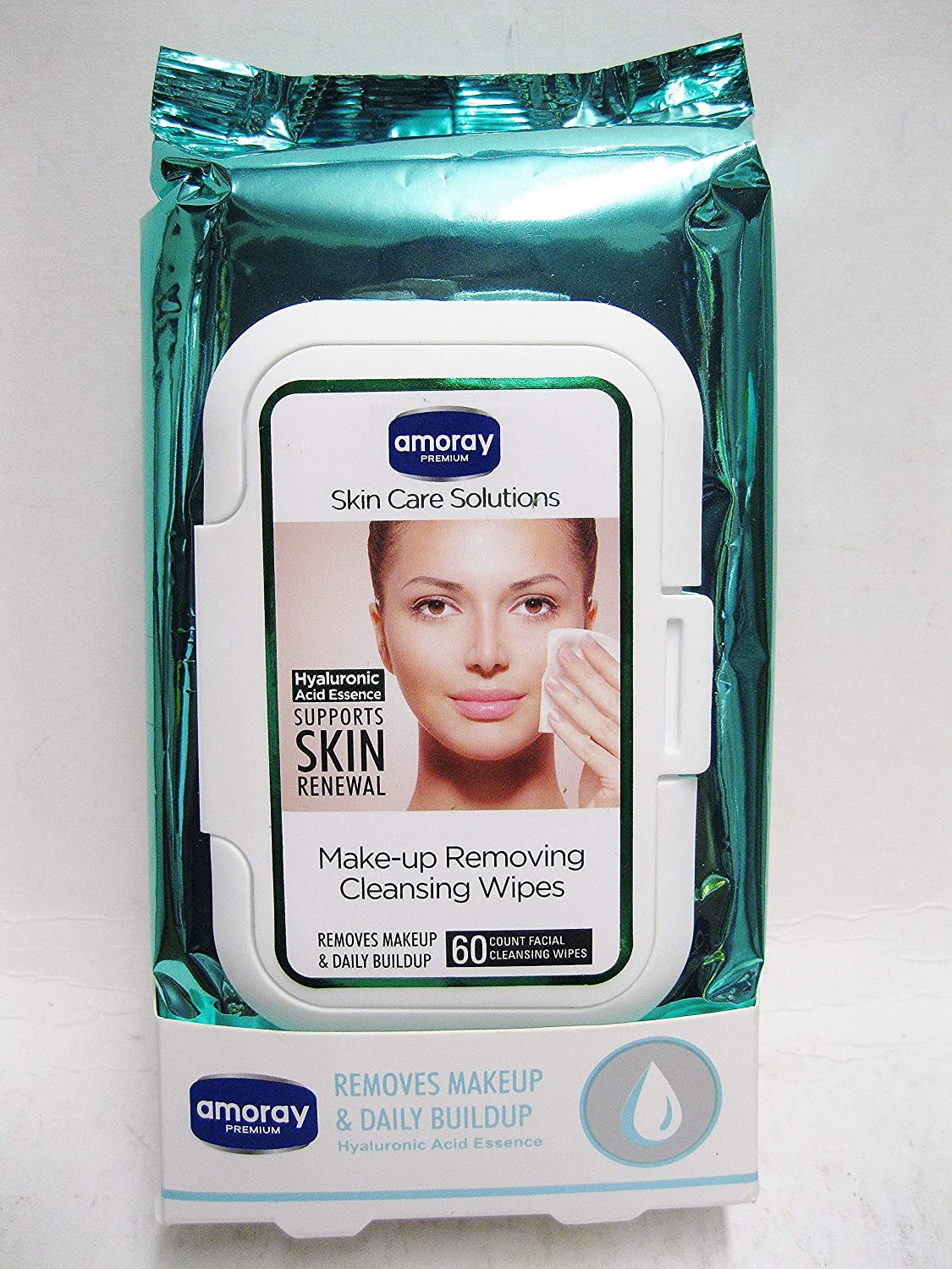 Amory Professional Make-up Facial Cleansing Wieps 60ct (Compare to Neutrogina 28ct)