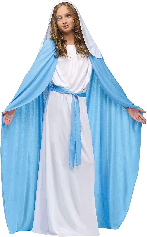 Fun World Costumes Girl's Child Mary Costume, Blue/White, Small