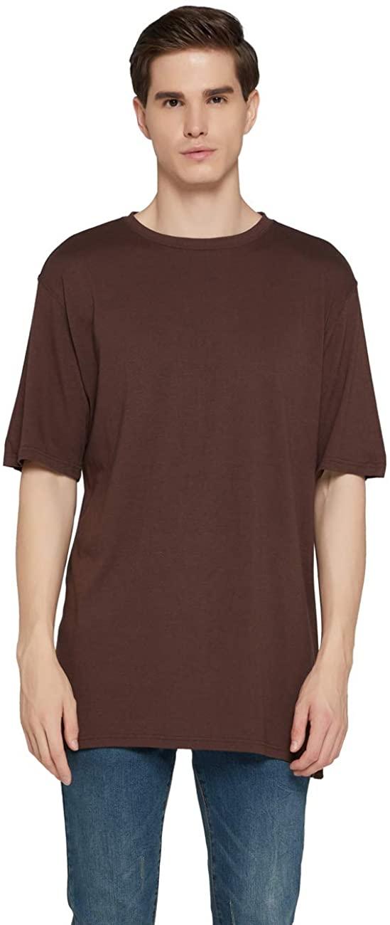 DC Men's Breathable Cotton Undershirt Sweat-Absorbing Viscose Bamboo Short Sleeve Crewneck T-Shirt