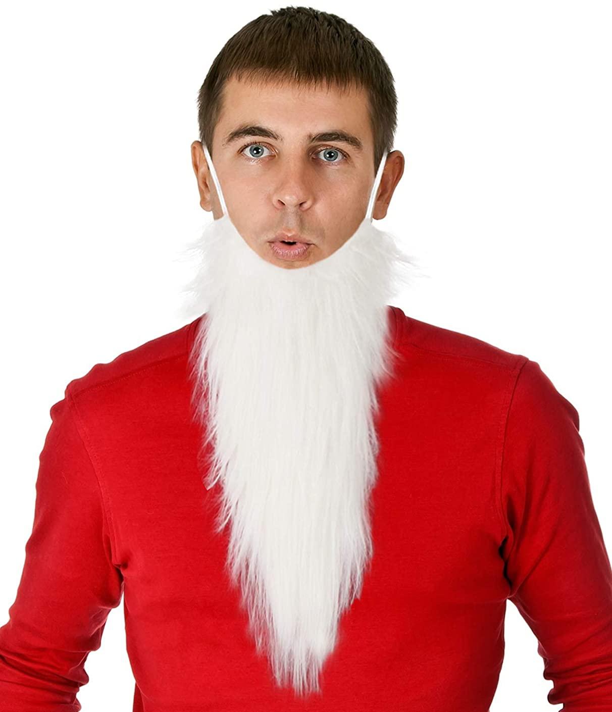 Costume Adventure White Gnome Dwarf Character Costume Beard - One Size