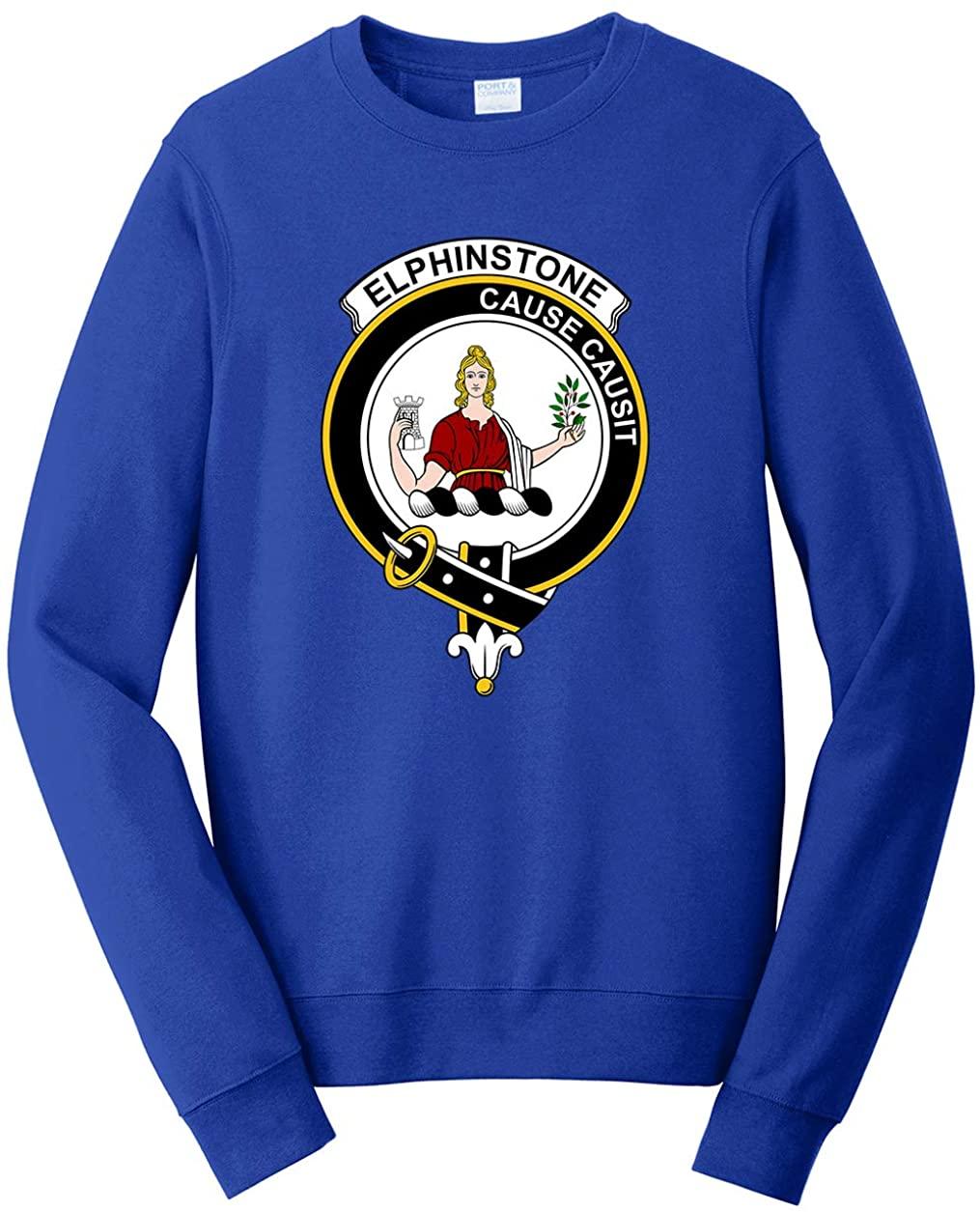 Tenacitee Unisex Scottish Clan Crest Badge Elphinstone Sweatshirt