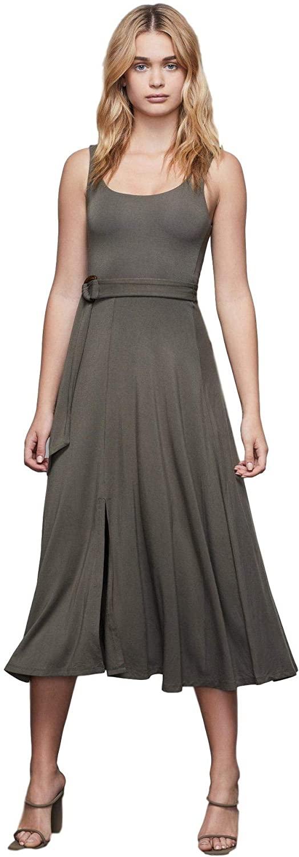 Good American Belted Swing Tank Dress